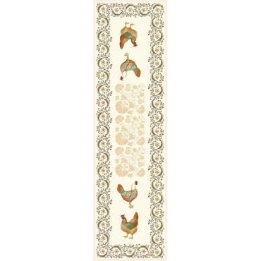Chemin de table jacquard France Paris 1m 60 / 50 cm