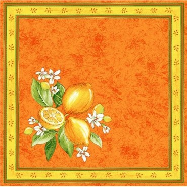Serviette  citron orange