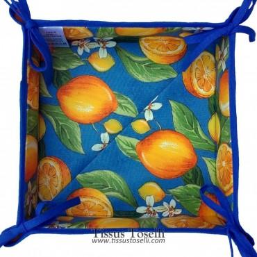 Corbeille à pain citron bleu