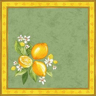 Serviette citron vert