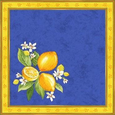 Serviette citron bleu