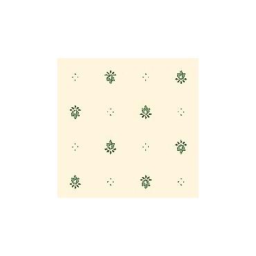 Serviette exclusif Blanc Vert