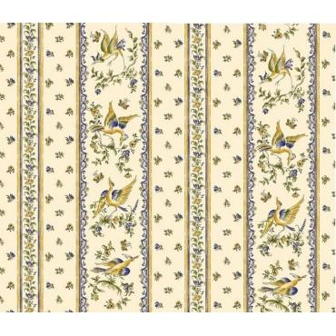 Nappe  faïence de Moustiers  bleu coton 1m50/1m20
