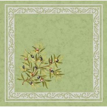 Serviette Clos des oliviers vert