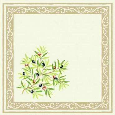 Serviette Clos des oliviers écru