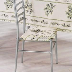 Coussin de chaise olivou écru