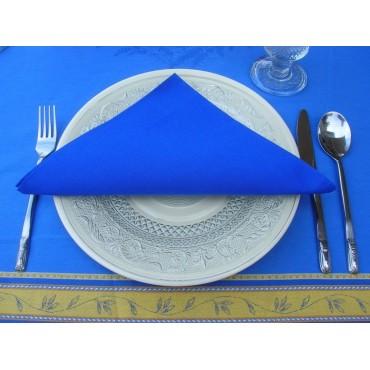 serviette coton  unie bleu 40 cm /40 cm