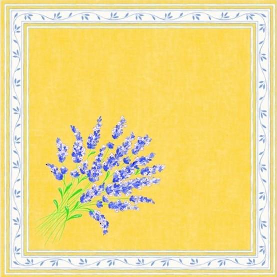 Serviette valensole jaune  40 cm /40cm
