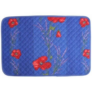 Set de table coquelicot lavande bleu