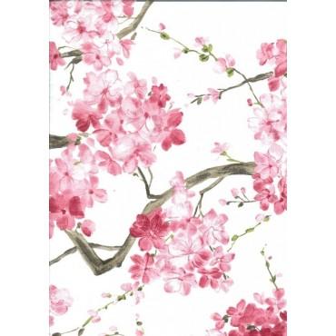 Nappe Carrée voile organza cerisier rose