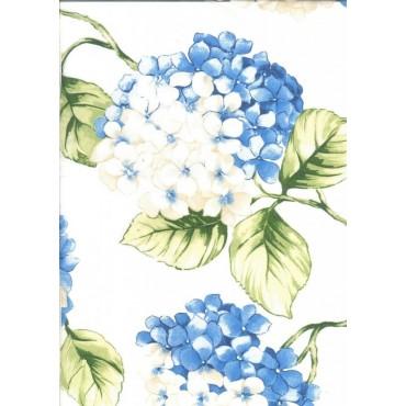 Nappe Carrée voile Organza hortensia bleu