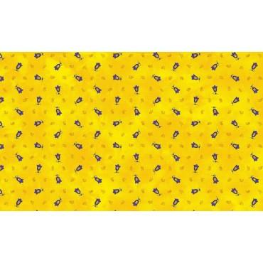 Serviette tradition jaune  40 cm /40cm