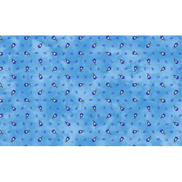 Serviette tradition bleu 40 cm /40cm