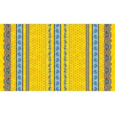 Nappe coton 2m/1m55  tradition jaune