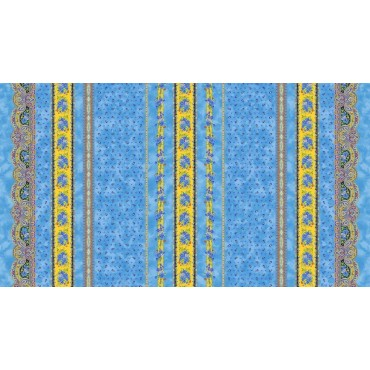 Nappe coton 2m/1m55  tradition bleu
