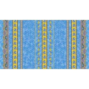 Nappe coton tradition bleu 2m50/1m55