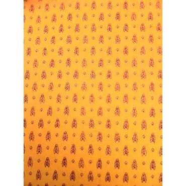 Nappe coton 2m/1m55  cigale jaune all over