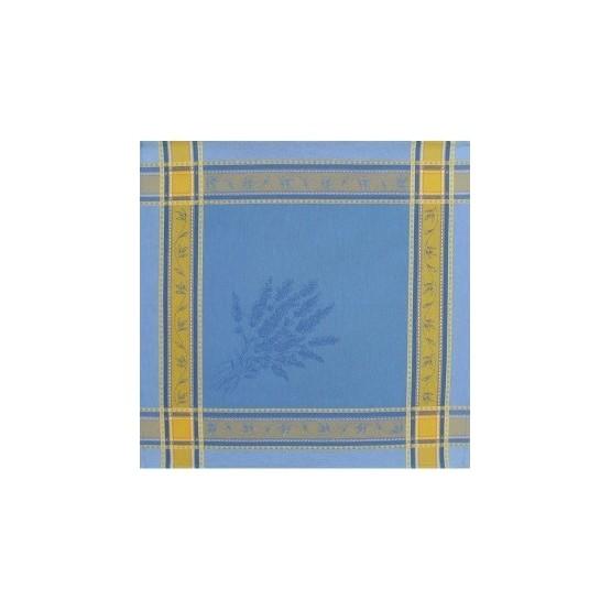 Serviette jacquard sénanques bleu 50cm/50cm