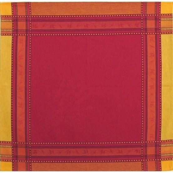 Serviette jacquard sénanques rouge 50cm/50cm