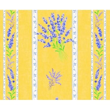 Nappe valensole jaune coton enduit 1m55/1m20