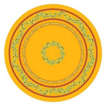 Nappe ronde coton ramatuelle jaune rouge1m80