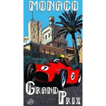 Serviette de plage Grand prix de Monaco 100 cm / 180 cm