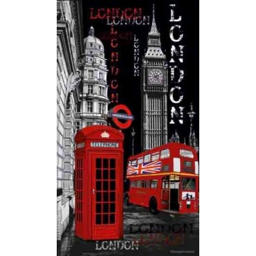 Serviette de plage London big Ben 100 cm / 180 cm