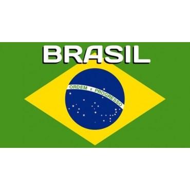Serviette de plage Brazil Drapeau du Brésil 75 cm / 150 cm
