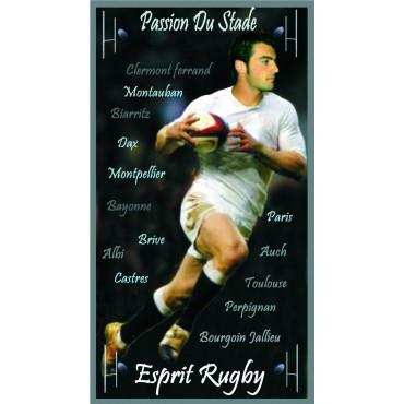 Serviette de plage esprit rugby 100 cm / 180 cm