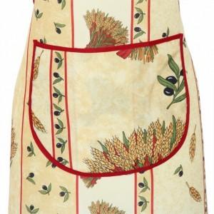 Tablier polyester  bouquet de blé paille
