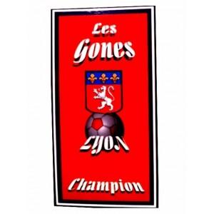 Serviette de plage LYON Les gones Champion Football 71 cm / 147 cm