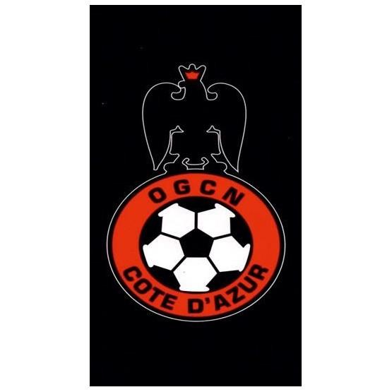 Serviette de plage OGC Nice Logo 75 cm / 150 cm