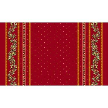 Nappe coton enduit  plastifiée ramatuelle rouge  2m50 / 1m55