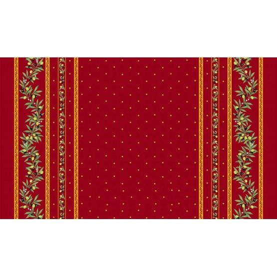 nappe coton enduit plastifi e ramatuelle rouge. Black Bedroom Furniture Sets. Home Design Ideas