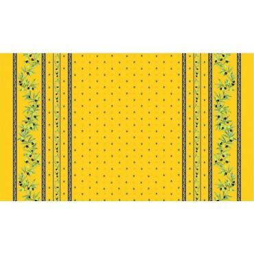 Nappe coton 2m/1m55  ramatuelle  jaune bleu