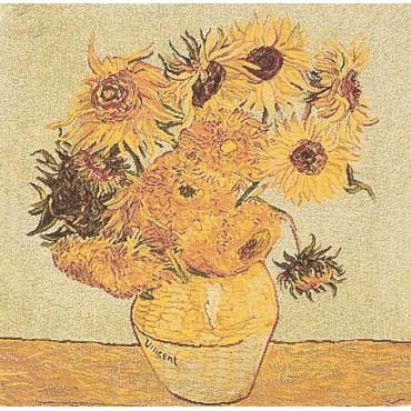 Housse de Coussin Coton Van Gogh Tournesol 45cm/45cm