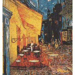 Housse de Coussin Coton Van Gogh café de nuit  45cm/45cm