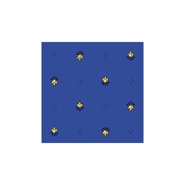 Nappe exclusif bleu jaune enduite 2m / 1m50