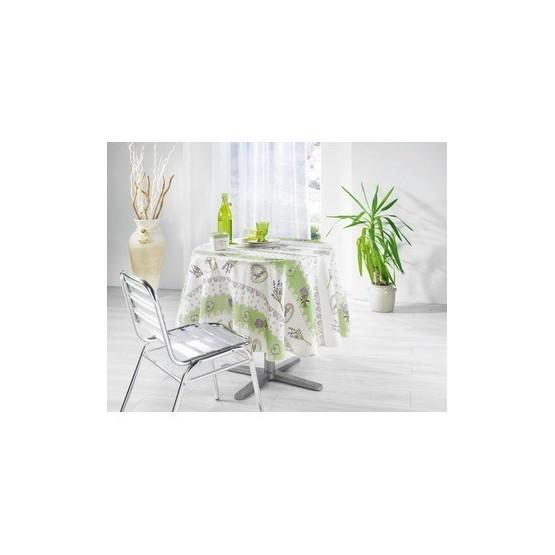 nappe charme vert anis 1m80 anti tache infroissable. Black Bedroom Furniture Sets. Home Design Ideas