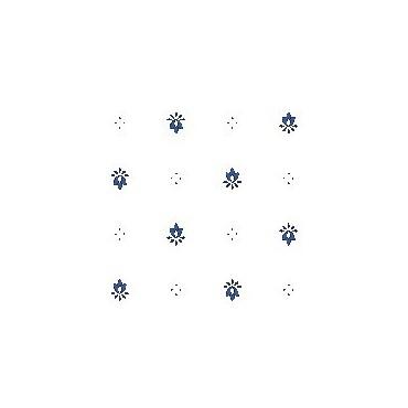 Nappe exclusif blanc bleu enduite 2m / 1m50