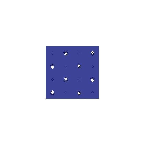 Nappe exclusif bleu blanc enduite 2m / 1m50