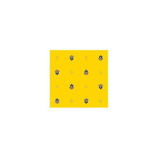 Nappe exclusif jaune bleu enduite 2m / 1m50