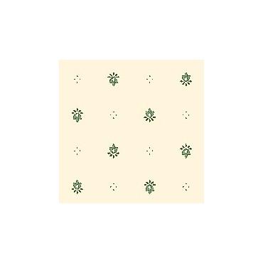 Nappe exclusif écru  vert enduite 2m / 1m50