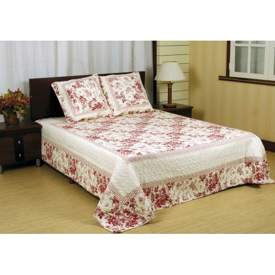 couvre lit ange Couvre Lit en Boutis 2m30 x 2m50 ange rouge 081010 couvre lit ange