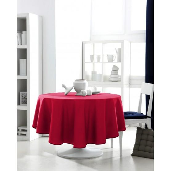 nappe ronde uni rouge 1m80 anti tache infroissable. Black Bedroom Furniture Sets. Home Design Ideas