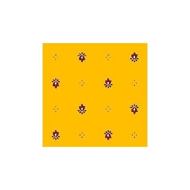 Nappe exclusif jaune rouge  plastifiée 2m50 / 1m50