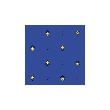 Nappe exclusif bleu jaune  plastifiée 2m50 / 1m50