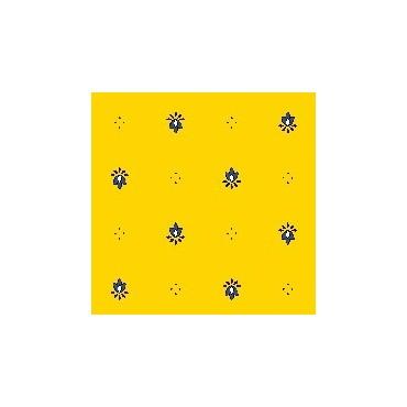 Nappe exclusif jaune bleu  plastifiée 2m50 / 1m50