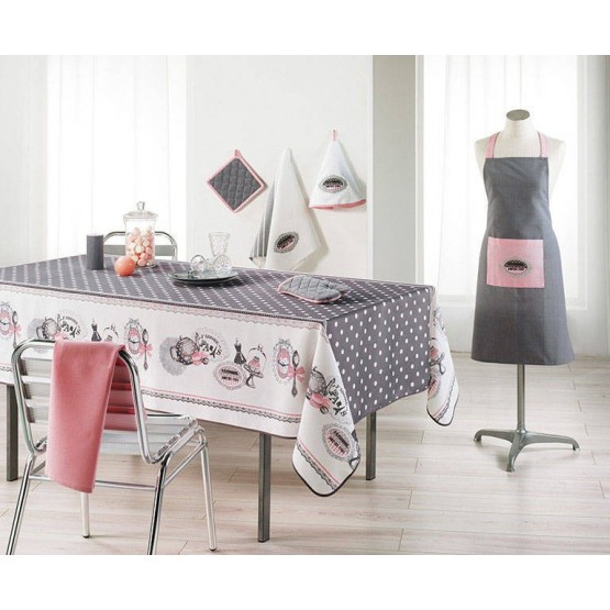 nappe brunch retro 2m x 1m50 anti tache infroissable. Black Bedroom Furniture Sets. Home Design Ideas