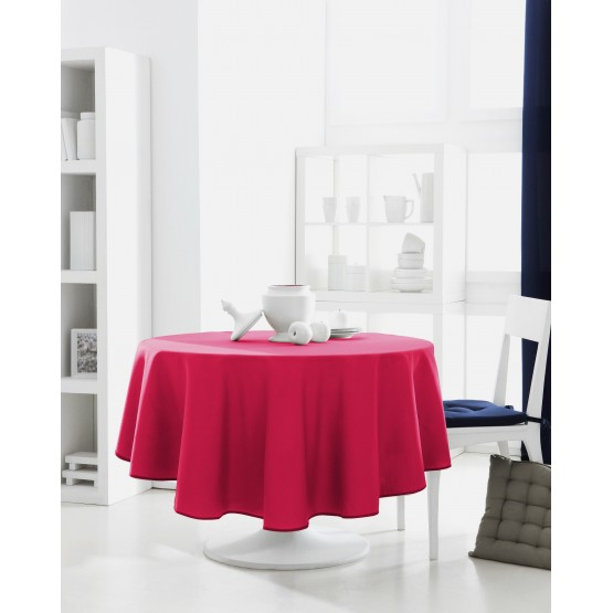 nappe ronde uni rose fushia 1m60 anti tache infroissable. Black Bedroom Furniture Sets. Home Design Ideas